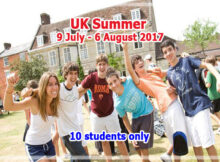 Summer group for Thai Student - 9 July - 6 August 2017