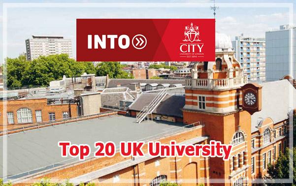 สมัครเรียนต่อปริญญาตรี ปริญญาโท ที่ INTO City university of London Top UK university