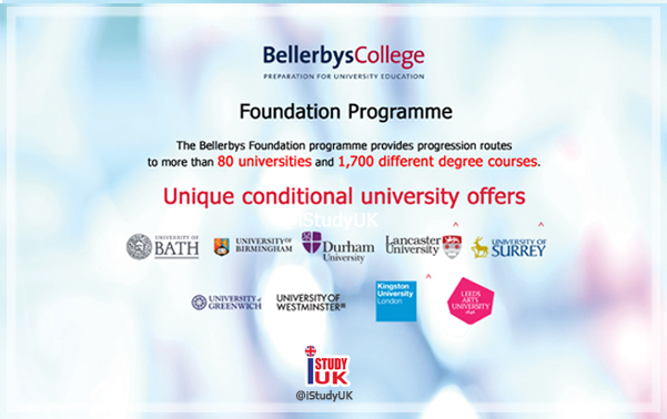 foundation pathway programme by bellerbys college uk brighton cambridge london สมัครเรียนFoundation กับ iStudyUK เตรียมตัวเรียนต่อประเทศอังกฤษ ปริญญาตรี Bath, Lancaster, Birmingham, Durham, Surrey, Greenwich, Westminster, Greenwich University UK