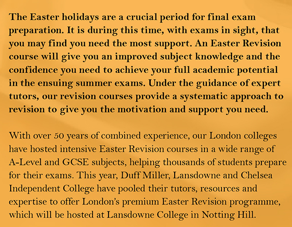 เรียนต่ออังกฤษ Easter Revision in London Alevel GCSE April 2017 กับ Astrumeducation