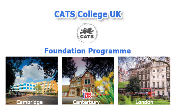 Foundation CATS College University Foundation Programme 2020 ติดต่อเอเยนต์เรียนต่อประเทศอังกฤษ สมัครเรียนต่อ CATS College UK Pathway ประเทศอังกฤษ CATS College London CATS College Cambridge Canterbury สมัครเรียน CATS College University Foundation Programme ประเทศอังกฤษ เรียน Foundation ก่อนเข้ามหาวิทยาลัยดังของอังกฤษ กับ เอเยนซี่ I Study UK ปรึกษาฟรีดูแลตลอดระยะเวลาในต่างแดน College เจ้าหน้าที่ I Study UK ผ่านการอบรมความรู้เฉพาะโดย British Council