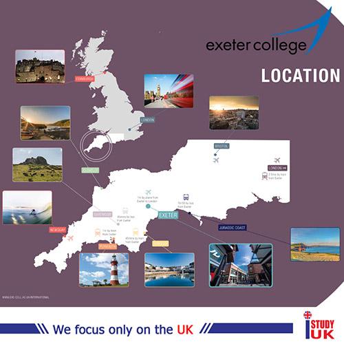 เรียนภาษาอังกฤษที่โรงเรียนรัฐบาลประเทศอังกฤษ Exeter College กับ เอเยนซี่ I Study UK ปรึกษาฟรีดูแลตลอดระยะเวลาในต่างแดน College เจ้าหน้าที่ I Study UK ผ่านการอบรมความรู้เฉพาะโดย British Council