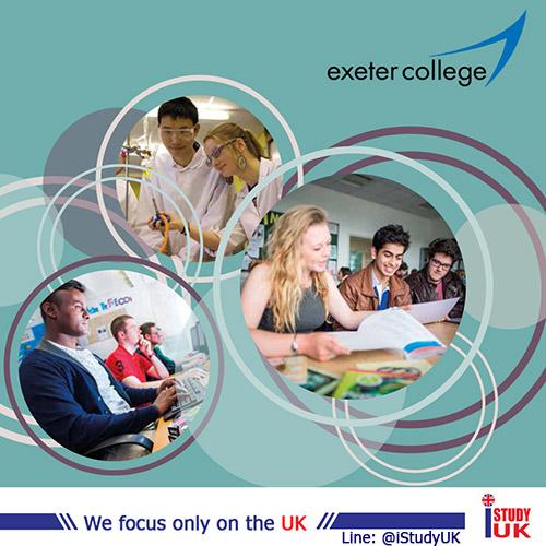 Exeter College วิทยาลัยรัฐบาลเทียบเท่ามัธยมปลายของประเทศอังกฤษ เรียนต่อ A-Level, IB and Foundation ที่ประเทศอังกฤษ ณ Exeter College UK