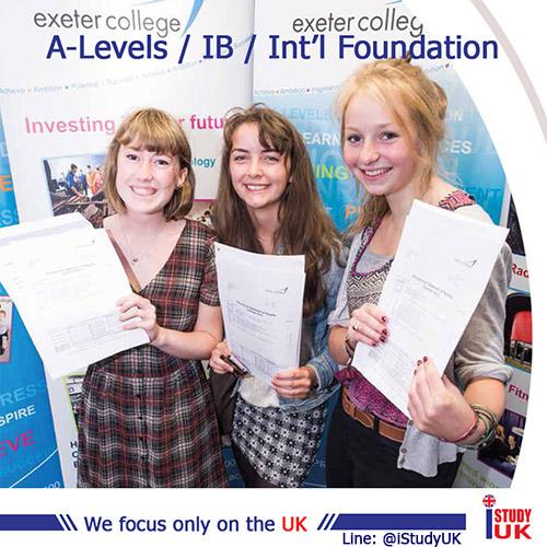 สมัครเรียนต่อ A-Level Exeter College เรียนต่อ A-Level, IB and Foundation ที่ประเทศอังกฤษ ณ Exeter College UK