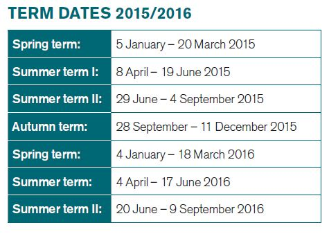 เรียนต่ออังกฤษ ณ De Montfort University DMU Leicester International Pathway College Programme Term Dates