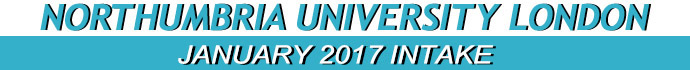January 2017 Intake of Northumbria University London campus