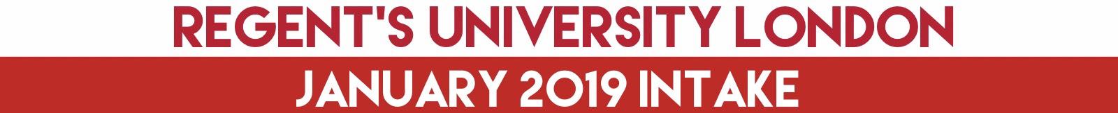 Regent's University London, UK เรียนต่อโทอังกฤษ January 2019 Intake
