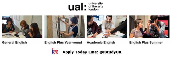 สมัครเรียนต่อภาษาอังกฤษ และ ด้านศิลปะและแฟชั่น Ual University of Arts London UK ประเทศอังกฤษ