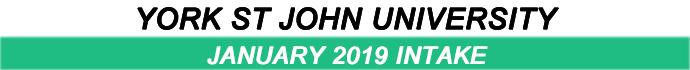 January 2019 Intake of York St John University