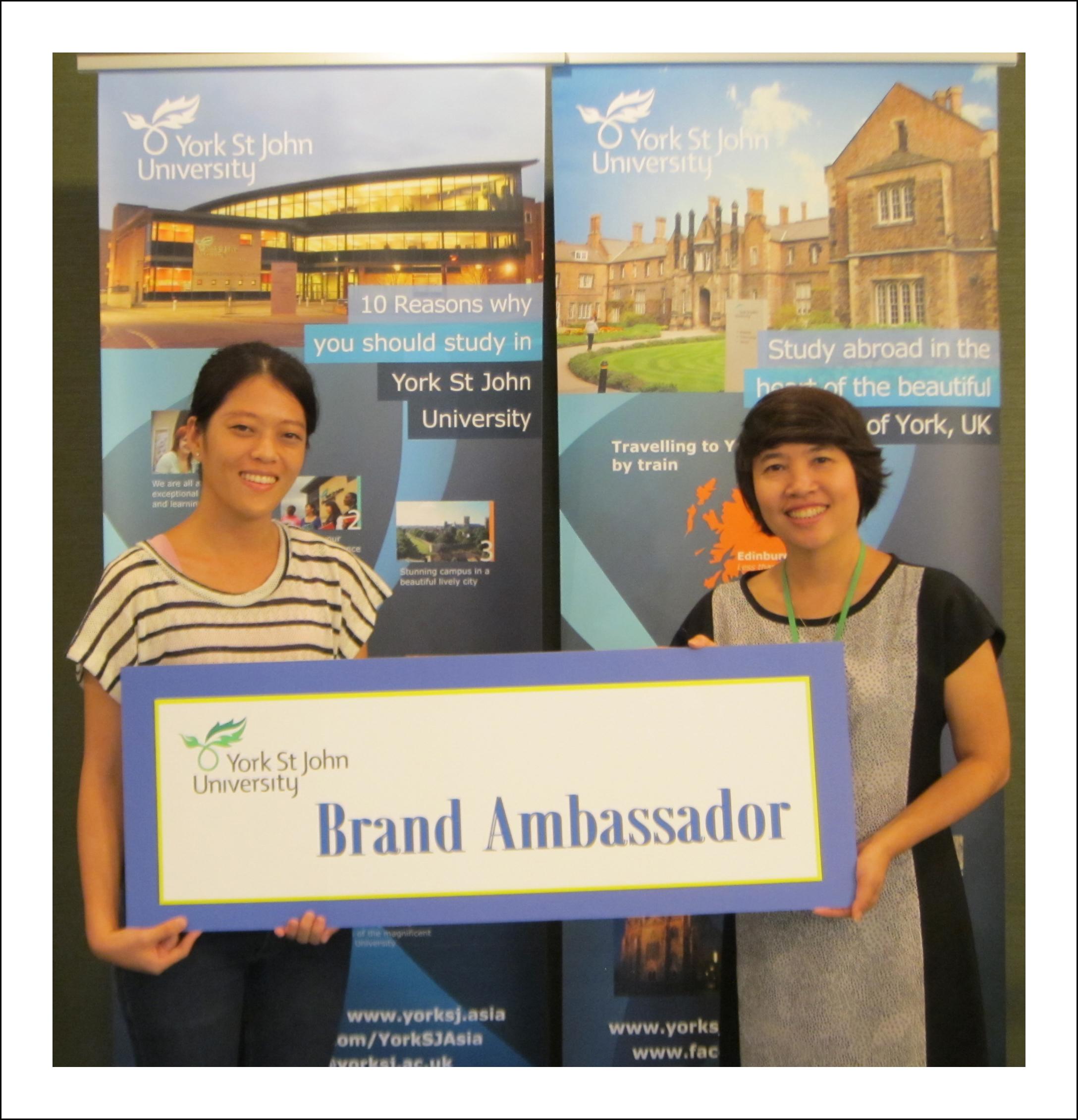 Thailand Brand Ambassador, York St John University